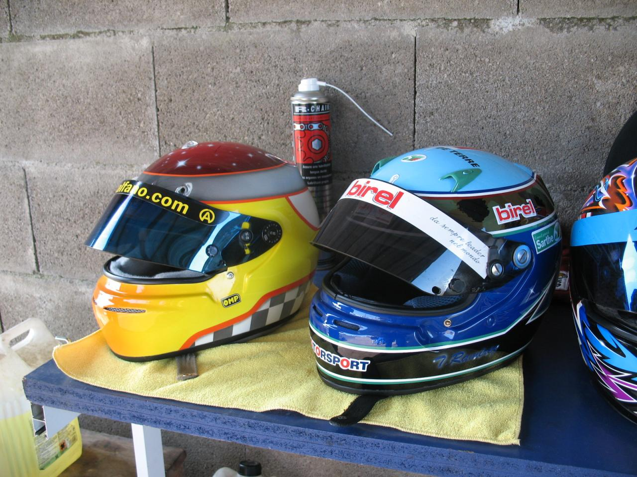 casques karting