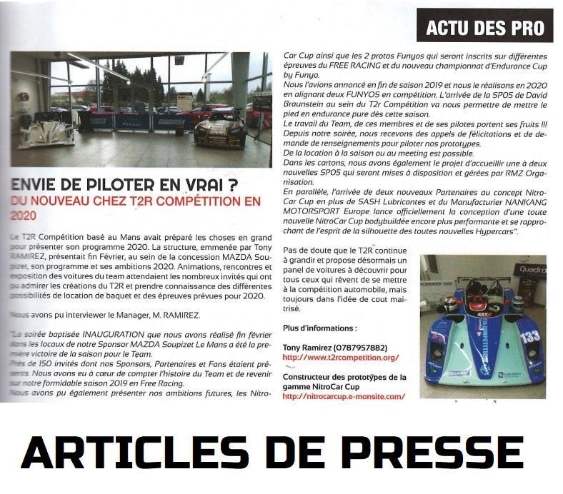 Le t2r Compétition dans la presse.