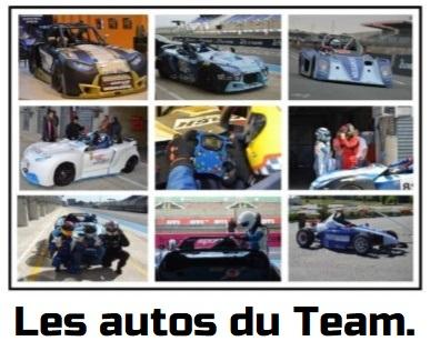 Les autos du Team.
